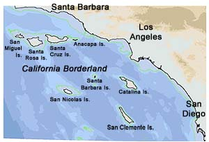Map of Southern California Bight.